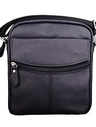 Men Bags All Seasons Cowhide Shoulder Bag with for Casual Formal Office & Career Black Brown