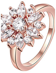 Ring Statement Rings Crystal Euramerican Fashion Personalized Luxury S925 Sterling Silver Crystal Rose Gold Plated Flower Jewelry For Women