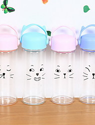 2Pcs Cartoon Outdoor Drinkware 301-400 ml Portable Glass Water Water Bottle Random Color