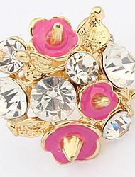 Mulheres Anel Anéis Grossos GemaBásico Original Com Logotipo Pérola Vitoriano Bijuterias Destaque Africa Floral Estilo simples Durável