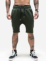 Men's Bottoms Camping / Hiking Breathable Summer Green Black-Sports