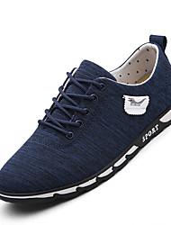 Herren-Sneaker-Lässig-GummiLeuchtende Sohlen-Dunkelblau Grau