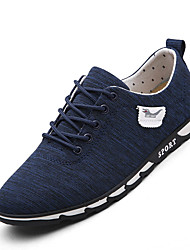 Men's Sneakers Light Soles Rubber Casual Gray Dark Blue