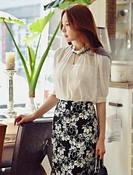 Damen Vintage Street Schick Hohe Hüfthöhe Über dem Knie Röcke Stifte Bodycon,Spitze Ausgeschnitten Muster