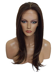 Brown Wig Lace Front Wig Long Straight Costume Wig Hairstyle For Women