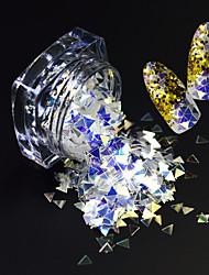 1 Bottle Fashion Beautiful Triangle Design Magical Dazzling Slice Nail Art Glitter Paillette Shining Thin Slice Decoration SZ02