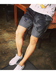 Men's Low Rise Inelastic Shorts Pants,Street chic Loose Solid