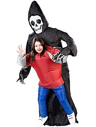 Batik Tokyo Ghoul Attack On Titan Inflatable Ghost Costume Halloween Skeleton Killer Suit Inflatable Grim Reaper Death Costume