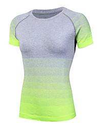 T-shirt à manches courtes pour femme en jersey dégradé
