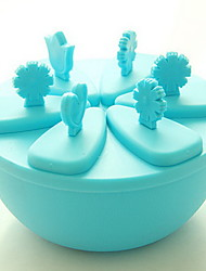6 Grid DIY Plastic Ice Lattice Ice Mould Popsicles Model
