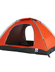 2 Personen Zelt Einzeln Falt-Zelt Einzimmer Camping Zelt 1500-2000 mm Glasfaser Oxford Polyester-TaftFeuchtigkeitsundurchlässig