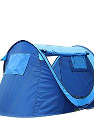 2 Personen Zelt Einzeln Automatisches Zelt Einzimmer Camping Zelt 1500-2000 mm Kohlefaser OxfordFeuchtigkeitsundurchlässig Wasserdicht