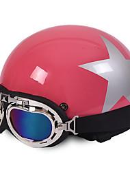 Motorcycle Helmets Open Face Half Motorbike & Goggles Helmet Unisex New Summer Vintage