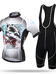 XINTOWN® Mountain Bike Road Bike Cycling Jersey and Bib Shorts Set Bicycle Bike Short Sleeve Jersey Clothing Apparel Suit Padded