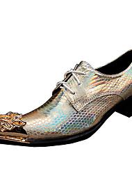 Herren-Outdoor-Outddor Büro Lässig Party & Festivität-Nappalederformale Schuhe-Gold