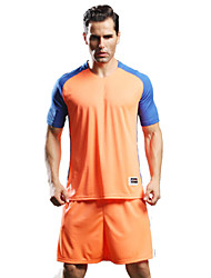 Homme Football Survêtement Respirable Confortable Eté Sportif Térylène Football Orange Jaune Vert