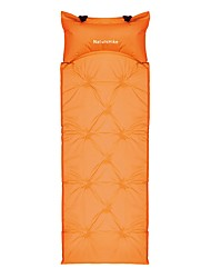 Moistureproof/Moisture Permeability Inflated Mat Sleeping Pad Orange Camping Traveling