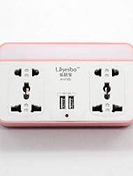 Power Strip 2A 220V  5 Outlets 2 USB Ports EU Plug AU Plug US Plug UK Plug