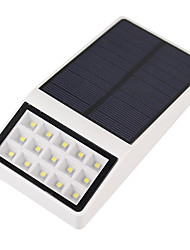 1PCS Outdoor Solar Powered 15 LED Security Wall Mount Garden Lights Pathway Yard Lamp
