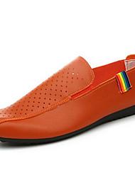 Herren-Sneakers Frühjahr Komfort Loch Schuhe Leder casual orange schwarz weiß