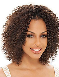 Human Hair Lace Wigs Kinky Curl Human Hair Full Lace Wigs  For Black Women