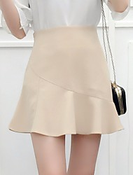 Women's High Rise Mini Skirts A Line Solid