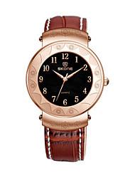 SKONE Dámské Pánské Módní hodinky Digitální hodinky čínština Křemenný Kůže Kapela Černá Hnědá