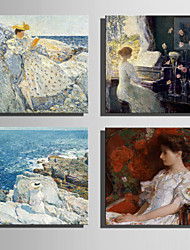 The Logicians Oil Painting Engraved Canvas Print Wall Art Childe Hassam 1 Multi Style Selection