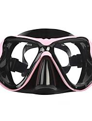 Máscaras de mergulho Protecção Mergulho e Snorkeling Neopreno Fibra de Vidro Silicone