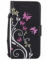 Para a carteira do titular do cartão com o caso do flip do carrinho caso do corpo cheio colore a flor couro duro do plutônio para o iphone
