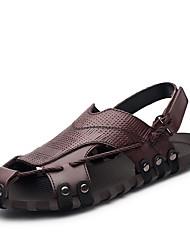 Las sandalias de los hombres ponen en marcha el verano al aire libre de cuero del nappa de la comodidad de la caída del verano los zapatos