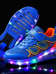 Para Meninos-Tênis-Light Up Shoes Shoe luminous-Salto Baixo-Azul Rosa claro-Tule-Ar-Livre Casual Para Esporte