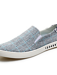 Men's Sneakers Spring Fall Comfort Fabric Casual Split Joint Light Blue Gray Black Walking