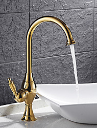 High Quality Brass Ti-PVD Single Handle One Hole Rotatable Kitchen Sink Faucet