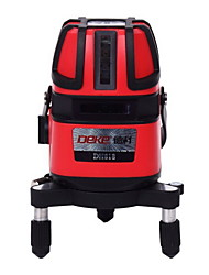 Deke® 5 Line 635nm Infrared Laser Marking Instrument Leveling Line Laser