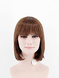 Япония и юг Корея модные дамы короткие парики пункта коричневые каштановые прямые прямые челки высокотемпературные парики провода