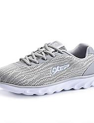 Da uomo-Sneakers-Tempo libero Casual Sportivo-Comoda Decolleté con cinturino pattini delle coppie-Piatto-Tulle-Nero Grigio