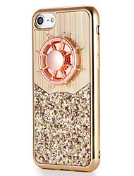Pour Apple iphone 7 7plus housse de protection fidget spinner pattern diy couverture arrière glitter brillant soft tpu 6s plus 6 plus 6s 6