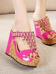 Women's Slippers & Flip-Flops Spring Comfort PU Casual Red