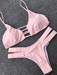 Women's Halter Bikini,Solid Polyester