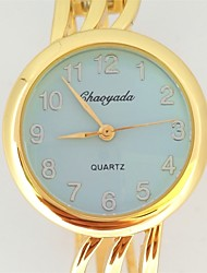 Ladies Fashion Bracelet Quartz Watch Metal Yellow Blue Face