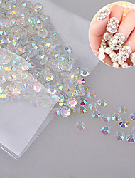 New 1000pcs/pack Crystal Clear Jelly AB Color Nail Art Resin Rhinestones Non HotFix Nail Art Decorations Accessories
