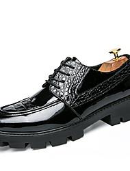 Для мужчин обувь Дерматин Весна Лето Осень Зима Формальная обувь Туфли на шнуровке Для прогулок Заклепки Шнуровка Назначение Свадьба