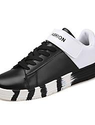 Men's Sneakers Spring Summer Fall Winter Comfort PU Office & Career Athletic Casual Hook & Loop Lace-up Walking