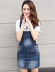 Femme Taille Normale Mini Jupes,Crochet Couleur Pleine
