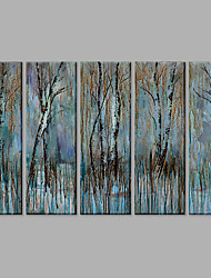 IARTS®Oil Paintings Set of 5 DIY Combination The Abstract Woods Modern Wall Art For Home Decoration Hand Painted Canvas Ready to Hang