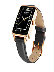 Hommes Smart Watch Montre Tendance Numérique Vrai Cuir Bande Noir
