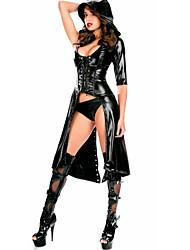 Chemises & Blouses Vêtement de nuit Femme,SexyMoyen Cuir Verni Polyuréthane