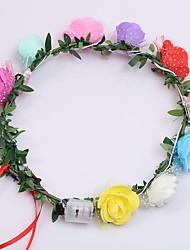 1pcs mode led light-up flashing headband guirlande de fleurs guirlande femmes filles décoration de cheveux mariage mariage mariage ramdon