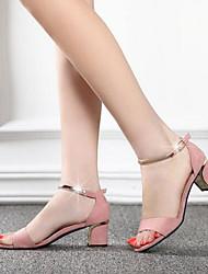 Damen-Sandalen-Lässig-PU-Blockabsatz-Mary Jane-